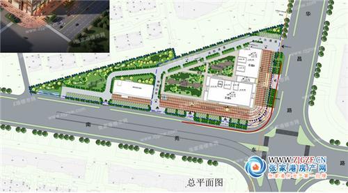张家港前溪村龙溪广场建筑方案设计鸟瞰图